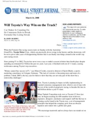 Will Toyota's Way Win on the Track_ - WSJ.com