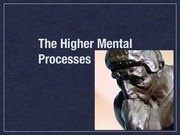 Higher Mental Processes