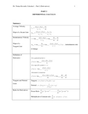 Calc1-Part2(Derivatives)