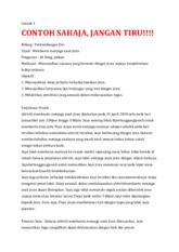 5 Pages Contoh Laporan Kerja Amal