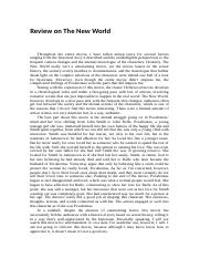 Mike's Review on The New World.docx