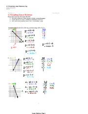 Graphing Linear Relation Notes