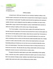Outline for Defining Captivity Essay