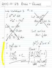 Math 1710 Area and Volume Notes