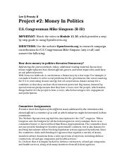 Project 2 Money In Politics