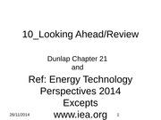 Looking ahead & Review(1)