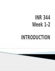 Week 1 and 2 Introduction