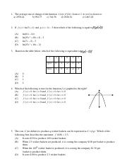 Practice Final Exam for Calculus 127