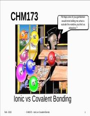 Lecture Topic #7 - Ionic & Covalent Bonding.pptx