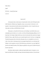 Psy Test Essay