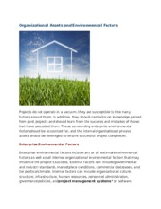 Organizational Assets and Environmental Factors