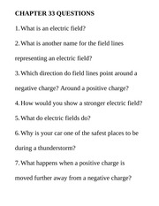 Chapter33 Questions Class Notes