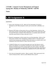 CST2400 Lab Assignment 4.docx