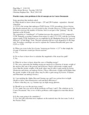 Questions and Answers about Final Exam