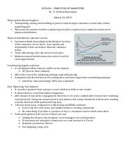Ch. 11-18 Marketing Notes