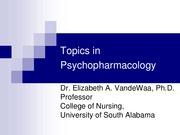TOPICS IN PSYCHOPHARMACOLOGY