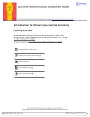 Introduction to China s new normal economy.pdf