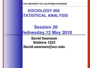 UCR SOC 005 STAT SPR 2010 Session 20  V4