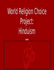 World Religion Choice Project: Template - Calissa Patel.pptx