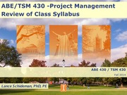 ABE&TSM 430- LCS combined lectures, Fall 2014-- Dec 11 ver