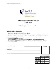 Sample Exam Paper2