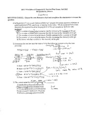 Fall 2012 - Practice Final Solutions