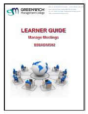 Learner Guide -  Manage Meetings BSBADM502.pdf