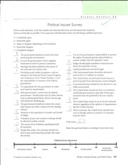 Political Issues Survey Ch8