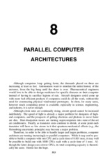 Ch 8 Parallel Computer Architectures