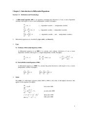 1.1 Introduction to Differential Equations