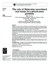 The role of Malaysian securitised