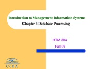 HTM304-4-Database Processing