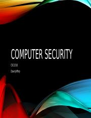 Computer Security Fall 2105