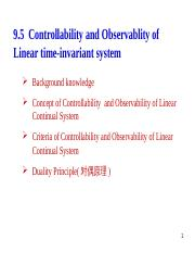 Lesson 4 9.5 Controllability and Obserability(2.5x45').ppt