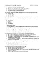 Graded Questions on Auditing 2 - Question 2.7