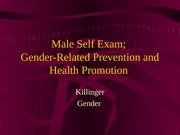 male self exam and cancer prevention