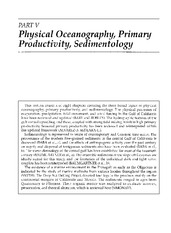 Part V_Physical Oceanography,Primary Productivity,Sedimentology