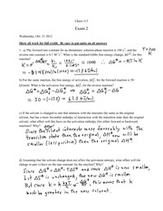 Chem 312 - Exam #2 key