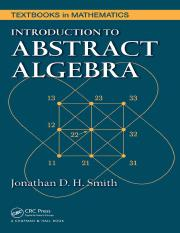 Introduction to Abstract Algebra by Jonathan D. H. Smith.pdf