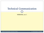 TechComm, Lecture 10 - Websites 1