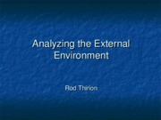 Analyzing the External Environment