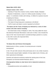Opium Wars Notes