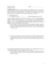 Exam 2 Fall 2011