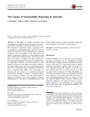 The Uptake of Sustainability Reporting in Australia.pdf