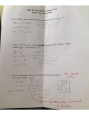 Applied Differential Equations Practice Quiz 1