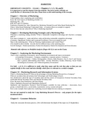 study guide for exam 2 chapters