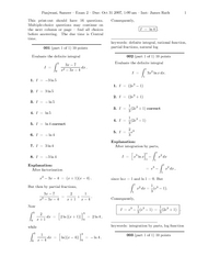 Integral Calculus Exam 2