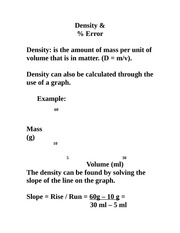 density and slope notes