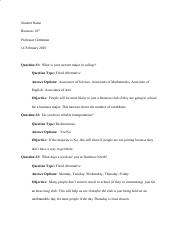 BUS107 Written Assignment #2 - Suvery Creation.pdf