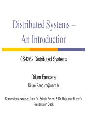 01 - Introduction to Distributed Systems